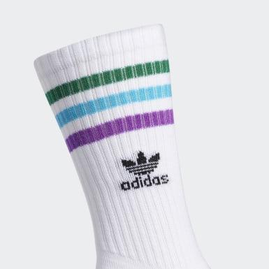 Men's Originals White Pride Roller Crew Socks