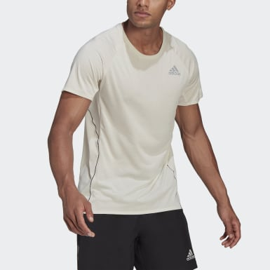 T-shirt Runner Beige Uomo Running