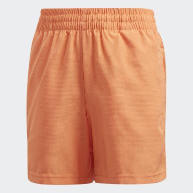 Youth 8-16 Years Padel Tennis Orange Club Shorts