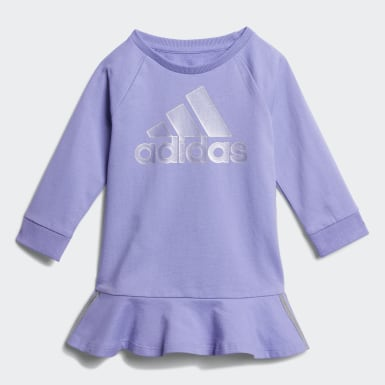 Infant & Toddler Training Purple Dress and Tights Set