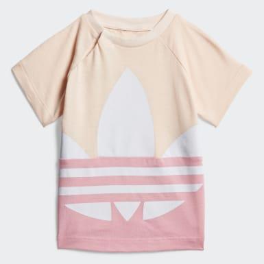 Dívky Originals růžová Tričko Large Trefoil