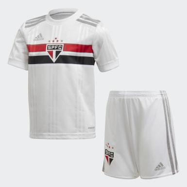 Mini Kit São Paulo FC 1 (UNISSEX) Branco Kids Futebol