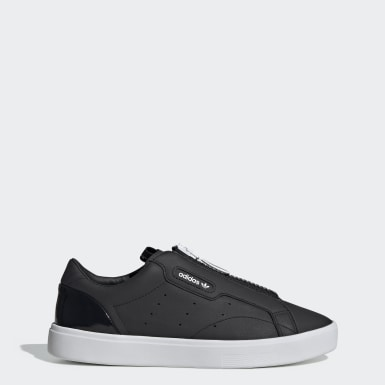 Women's Originals Black adidas Sleek Zip Shoes