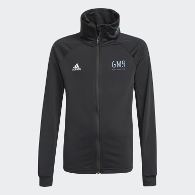 Youth 8-16 Years Training Black Gaming Football-Inspired Tracksuit