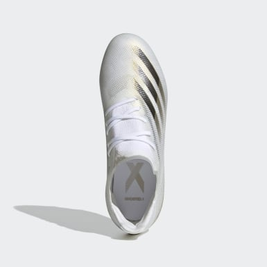 Boys Football White X Ghosted.1 Firm Ground Boots
