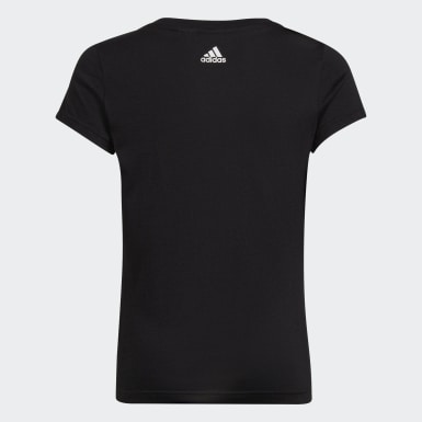 Mädchen Athletics Badge of Sport T-Shirt Schwarz