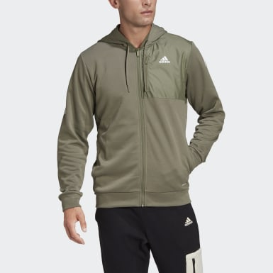 Men's Athletics Green AEROREADY Full-Zip Hoodie