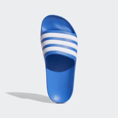 Kinderen Zwemmen blauw Adilette Aqua Badslippers