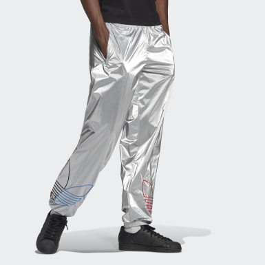 Men Originals Silver Adicolor Tricolor Tracksuit Bottoms