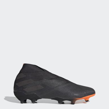 Bota de fútbol Nemeziz 19+ césped natural seco Negro Fútbol