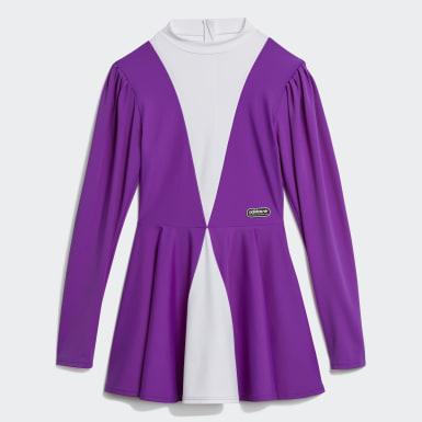 Women's Originals Purple Lotta Volkova Ice Skate Dress