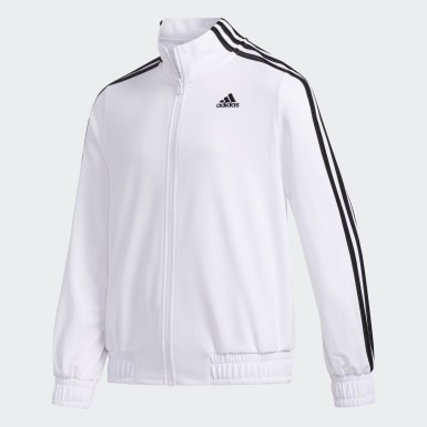 Youth Training White FULL ZIP CROPPED LENGTH JKT