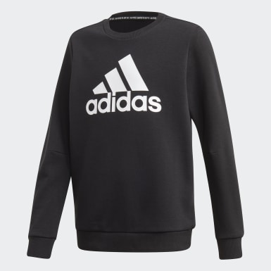 Boys Träning Svart Must Haves Crew Sweatshirt