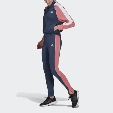 Women Athletics Blue Bomber Jacket and Tights Tracksuit
