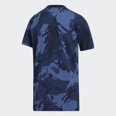 Youth Training Blue Classic Camo Tee