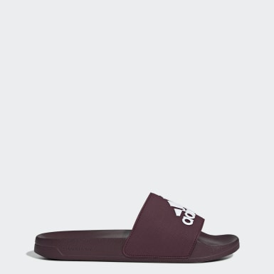Chinelo Adilette Shower Burgundy Homem Yoga