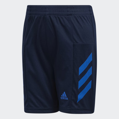 Youth Training Blue Pro Sport 3-Stripes Shorts