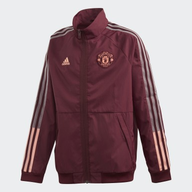 Giacca Anthem Manchester United FC Bordeaux Bambini Calcio