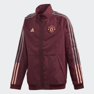 Børn Fodbold Burgundy Manchester United Anthem jakke