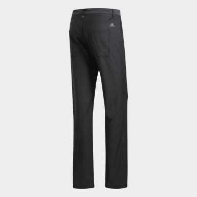 Men's Golf Black Ultimate365 Heathered Five-Pocket Pants