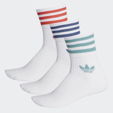 Originals bílá Ponožky Mid-Cut Crew – 3 páry