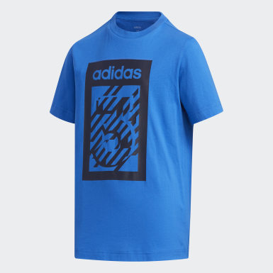 синий Футболка YB BOX TEE