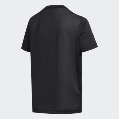 Genç Training Siyah 3 Bantlı Şort ve Tişört Takımı