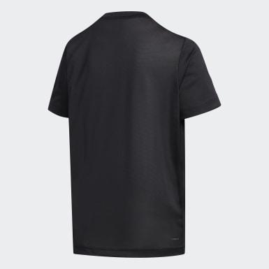Conjunto de camiseta y shorts 3 Rayas Negro Niño Training