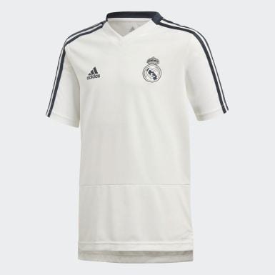 Deti Futbal biela Dres Real Madrid Training