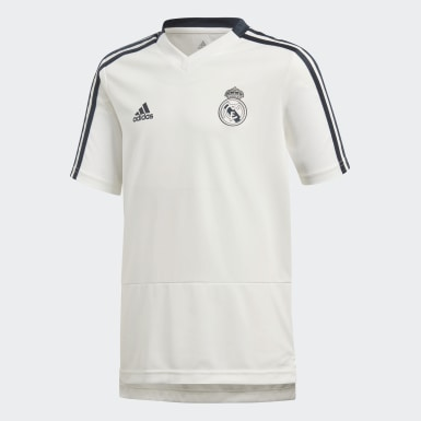 Kids Football White Real Madrid Training Jersey