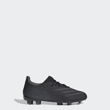 Boys Football Black X Ghosted.3 Firm Ground Boots