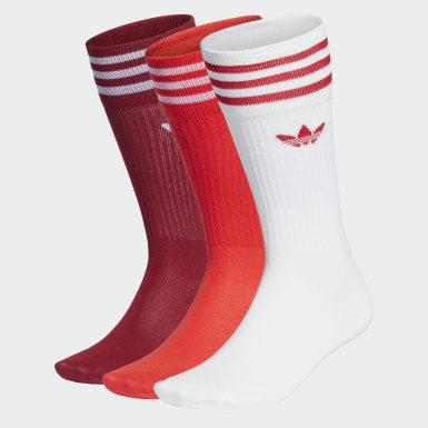 Originals bílá Ponožky Crew – 3páry