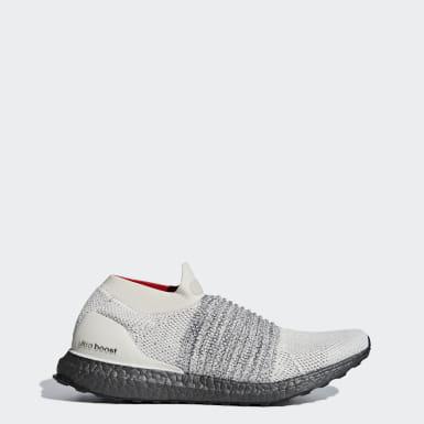 Running Beige Ultraboost Laceless Shoes