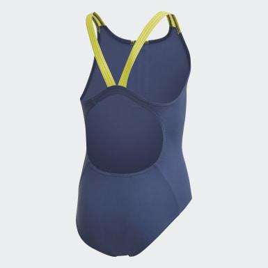 Dievčatá Plávanie modrá Plavky Fitness