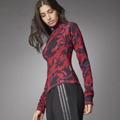 Women Athletics Red Turtleneck Long-Sleeve Top Long-Sleeve Top