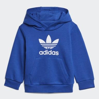 Børn Originals Blå Trefoil hoodiesæt