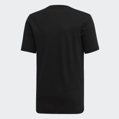 Camiseta Essentials Plain Negro Niño Training
