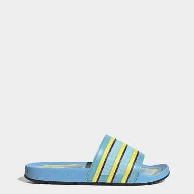 Men Originals Turquoise Adilette Premium Slides
