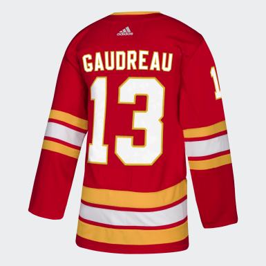 Men Hockey Multicolor FLAMES GAUDREAU ALTERNATE Authentic Pro Jersey