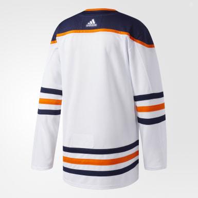 Maillot Oilers Extérieur Authentique Pro blanc Hockey