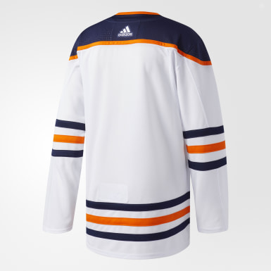 Men's Hockey White Oilers Away Authentic Pro Jersey