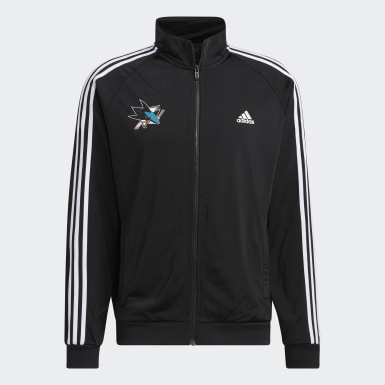 Men's Essentials Multicolor Sharks Essentials 3-Stripes Track Top