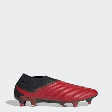 Botines de fútbol Copa 20+ césped natural húmedo Rojo Hombre Fútbol