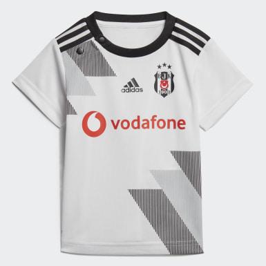 Bebek Futbol Beyaz Beşiktaş JK İç Saha Mini Takım Forması