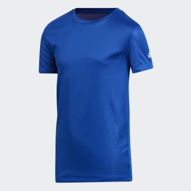 Youth Training Blue CLIMA TECH TEE