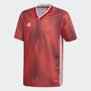 Maillot Tiro 19 rouge Adolescents Soccer