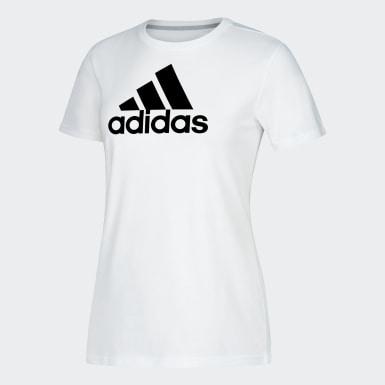 Women's Sport Inspired White Badge of Sport Tee