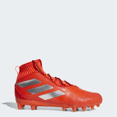 Men's Football Orange Boost Freak Ultra Cleats