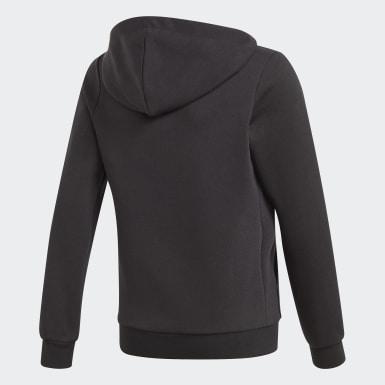 Chaqueta con capucha Essentials Linear Negro Niña Athletics