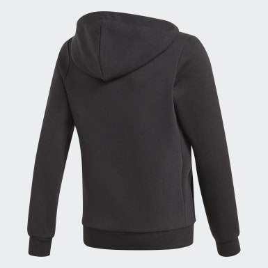 Hoodie Essentials Linear Nero Ragazza Athletics